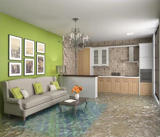 Gulf Breeze, FL - Water quickly spreads throughout your property, saturating everything in its path.