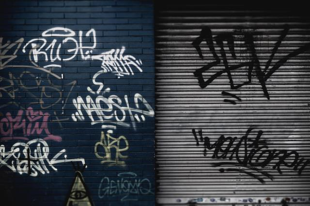 General cleaning and graffiti removal.