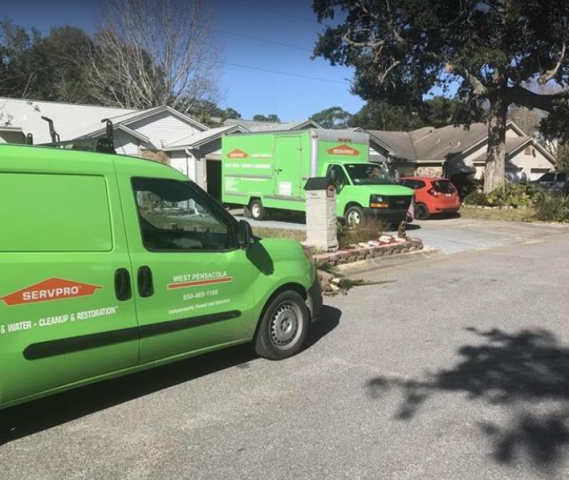 The cleanup and restoration begins with a phone call. Our customer care center is fully staffed 24 hours a day and ready to dispatch the nearest SERVPRO to your home or business.