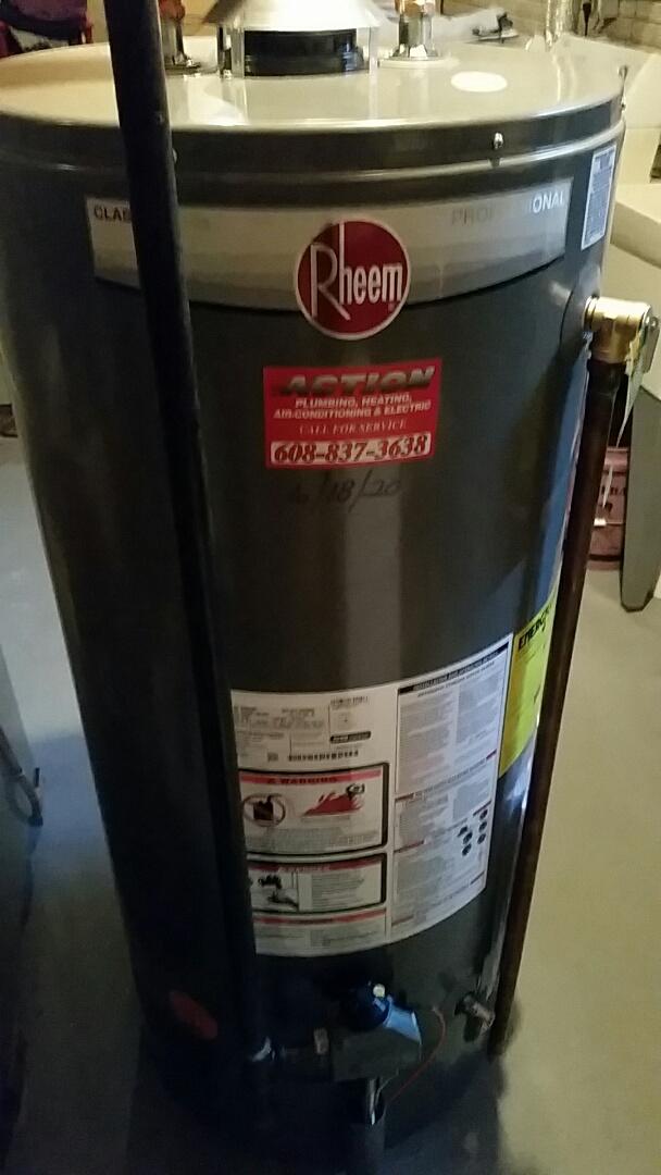 Madison, WI - Install Rheem water heater