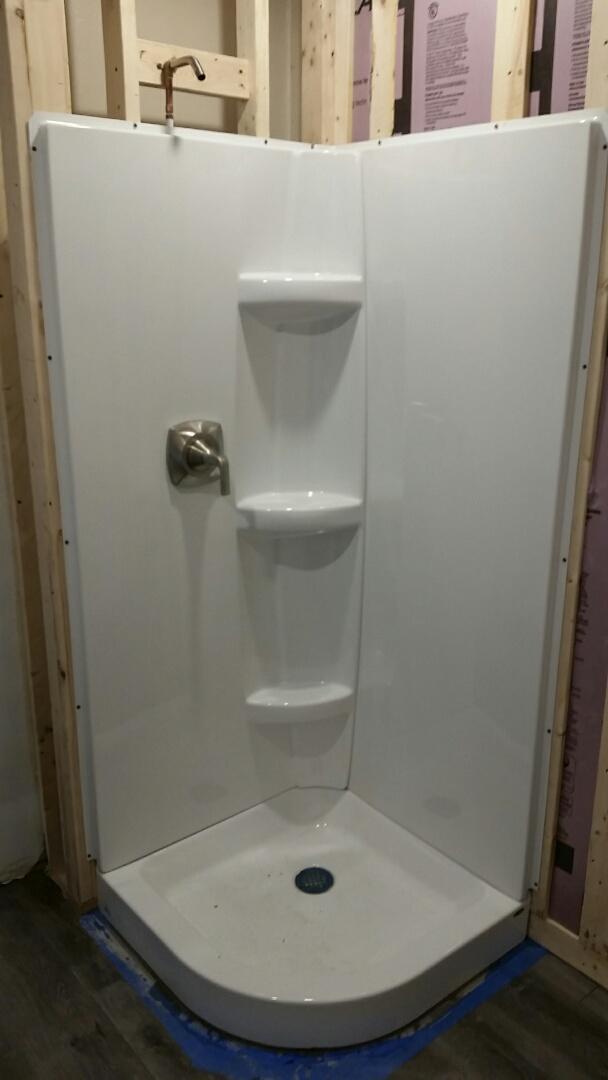 Madison, WI - Install shower module. Install Kohler shower faucet.