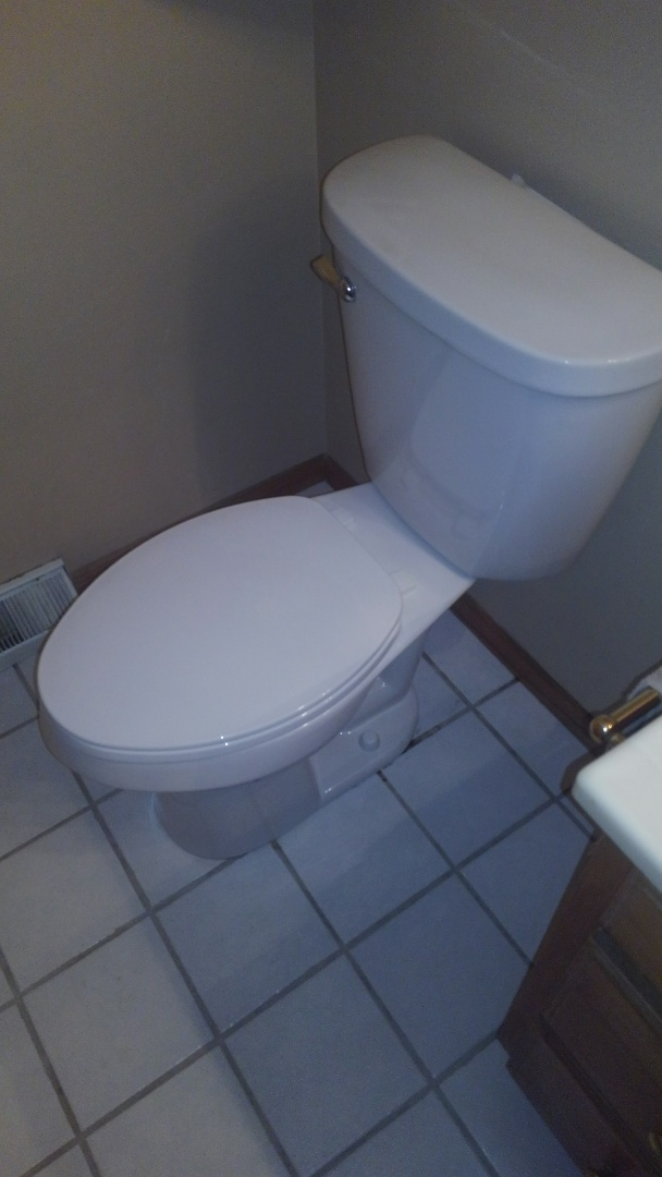 Madison, WI - Customer would like new taller toilet plumber install new taller elongated toilet