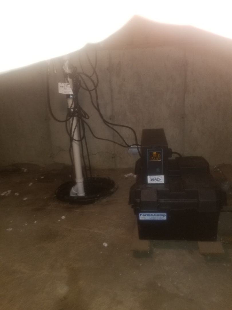 Zion, IL - Install ion storm pro aci35 battery backup unit and primary sump pump