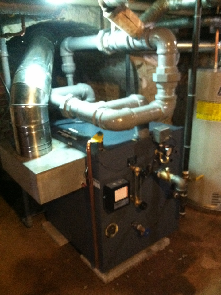 Today we replaced an oil boiler with a gas stem boiler.(I love this job) it's my passion