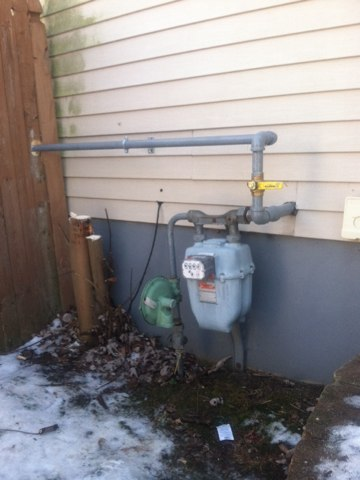 I installed a gas line and valve to a hole house genorater