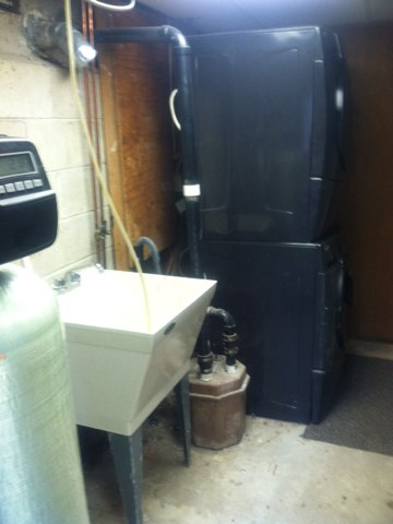 Jackson, NJ - This morning we are moving a sink and a washing mochene