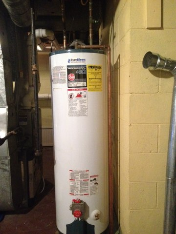 Lawrence Township, NJ - Working on a hot water heater install in Lawrenceville NJ. Love this stuff :) before pic