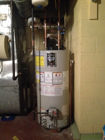 Lawrence Township, NJ - Look at that beautiful new hot water heater :)
