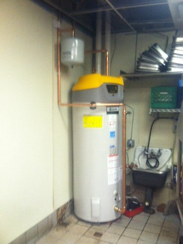 West Windsor Township, NJ - Completed install of AO Smith Cyclone rapid recovery hot water heater