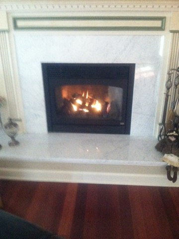 Old Bridge Township, NJ - This afternoon we are installing a gasoline to a fireplace