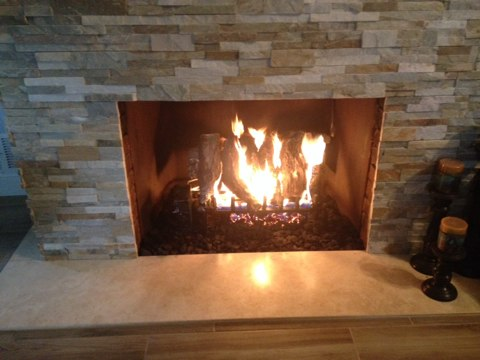 North Brunswick, NJ - Setting a gas fireplace insert