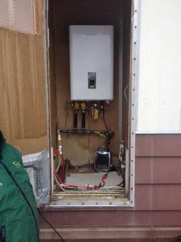 Toms River, NJ - Installing a Navien tankless water heater , and boiler combo unit
