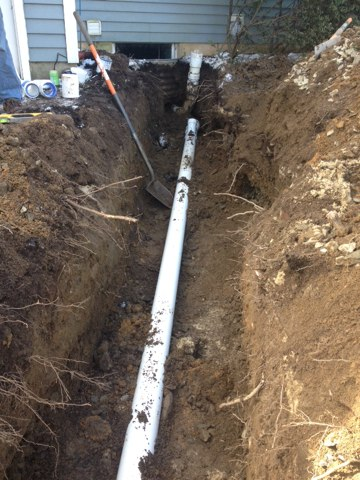 West Windsor Township, NJ - Replacing a old sewer line