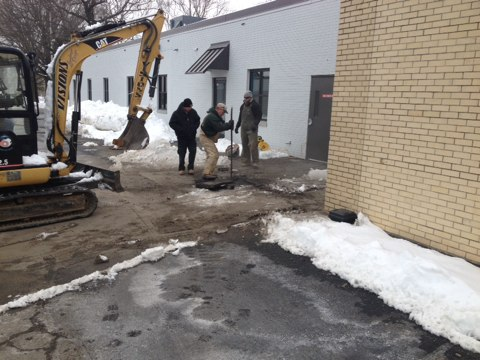 Monroe Township, NJ - Emergency sewer repair before the nor Easter hits!  24/7