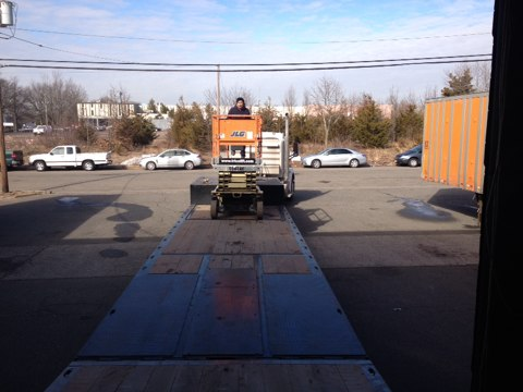 Edison, NJ - Working in the sky today! Commercial roof drain specialists.
