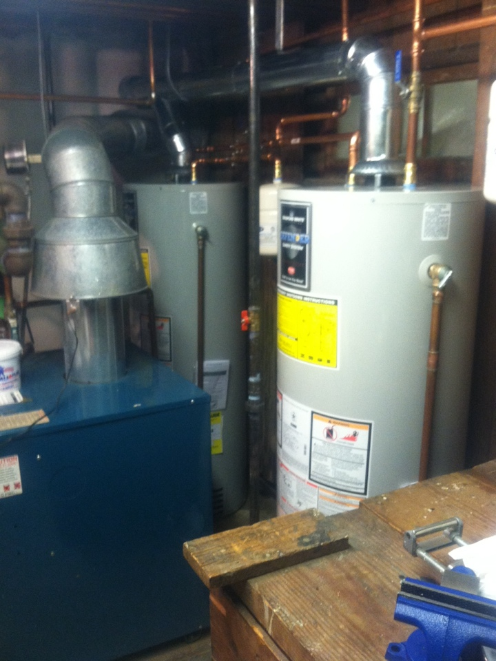 Princeton, NJ - Installing twin 50 gallon Bradford-White water heaters