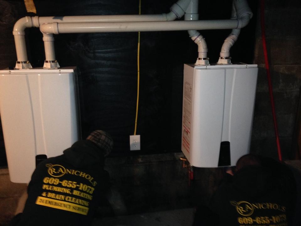 Rumson, NJ - Installing duel tankless hot water heaters in Rumson NJ