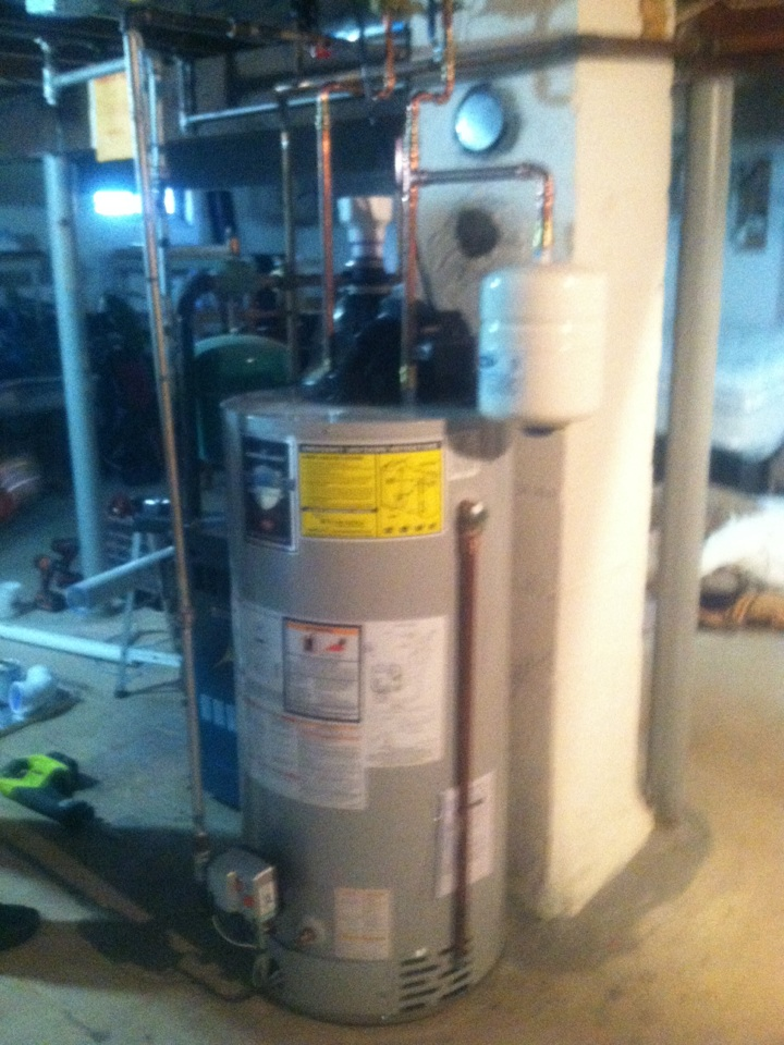 Trenton, NJ - Today we are installing a new 50gal power vent water heater