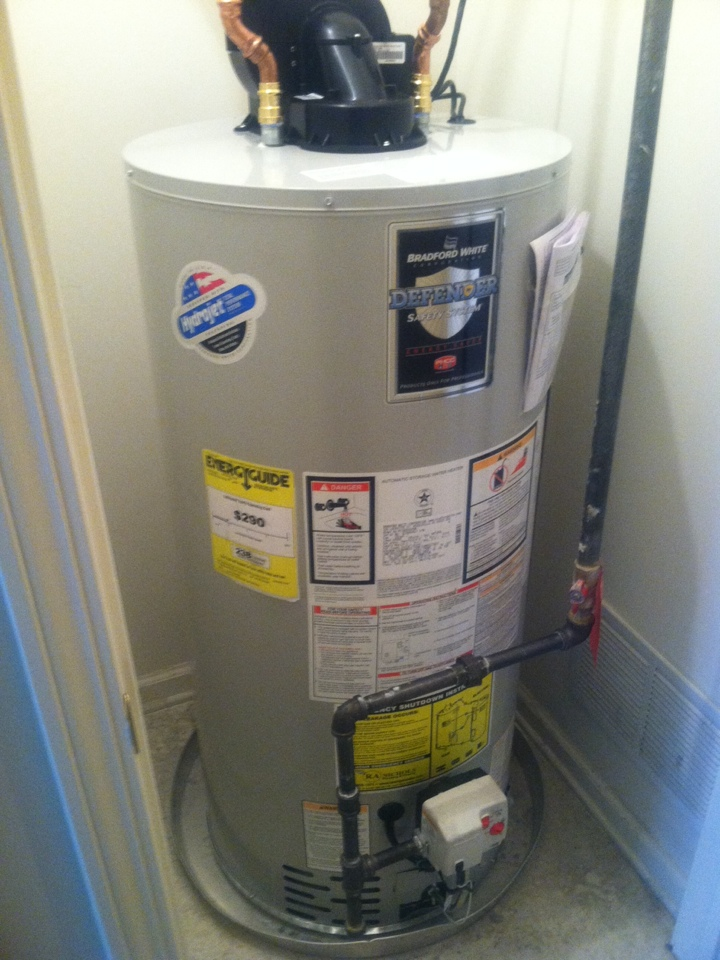Allentown, NJ - This morning we are installing a 50gal power vent  water heater