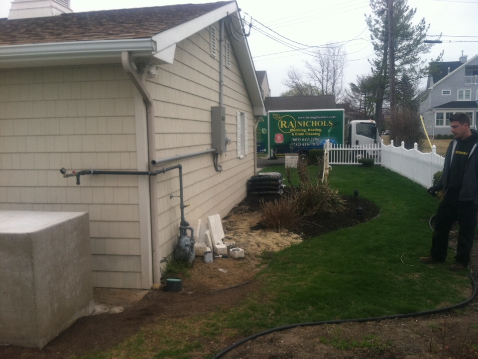 Monmouth Beach, NJ - Today we are installing a gas line for a whole house genorater  2ft off the ground at the shore