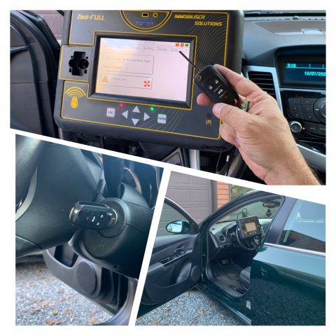 Ruckersville, VA - Replaced lost keys to a 2014 Chevrolet Cruze.  We provided, cut and programmed an OEM remote head key.