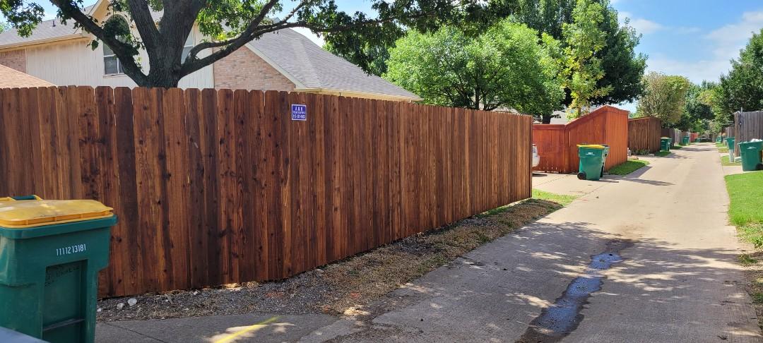 Side by side fence 6ft western red cedar