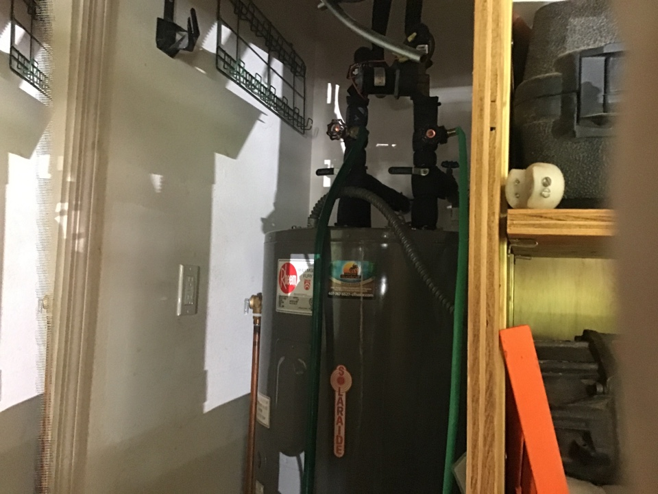 Oviedo, FL - Showed customer hot to turn the power on to their hot water heater