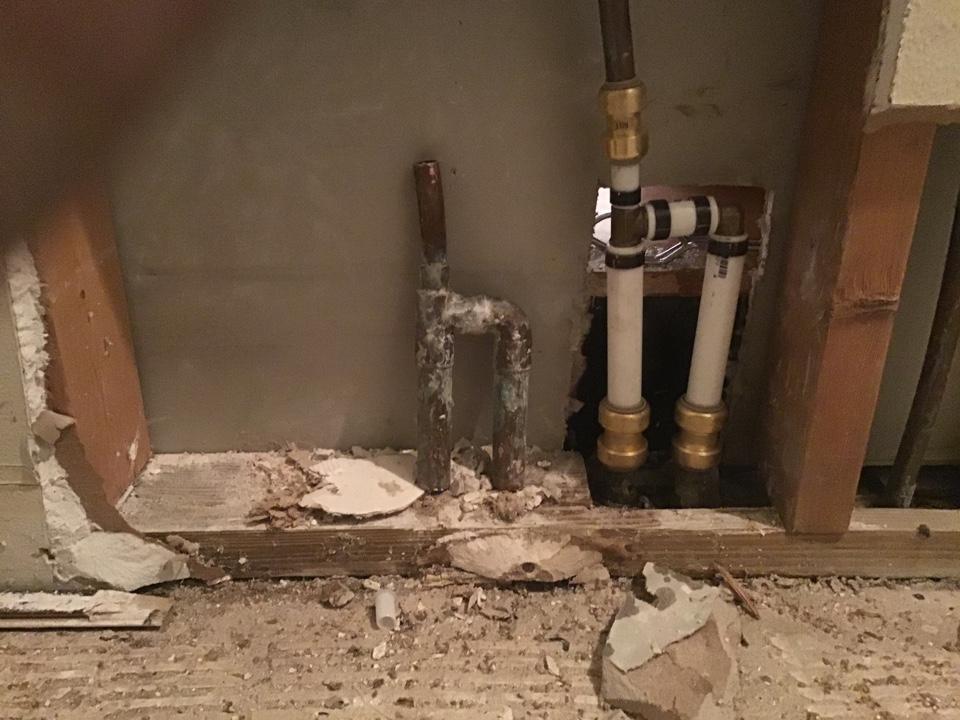 Winter Springs, FL - Manifold repair behind bathroom wall