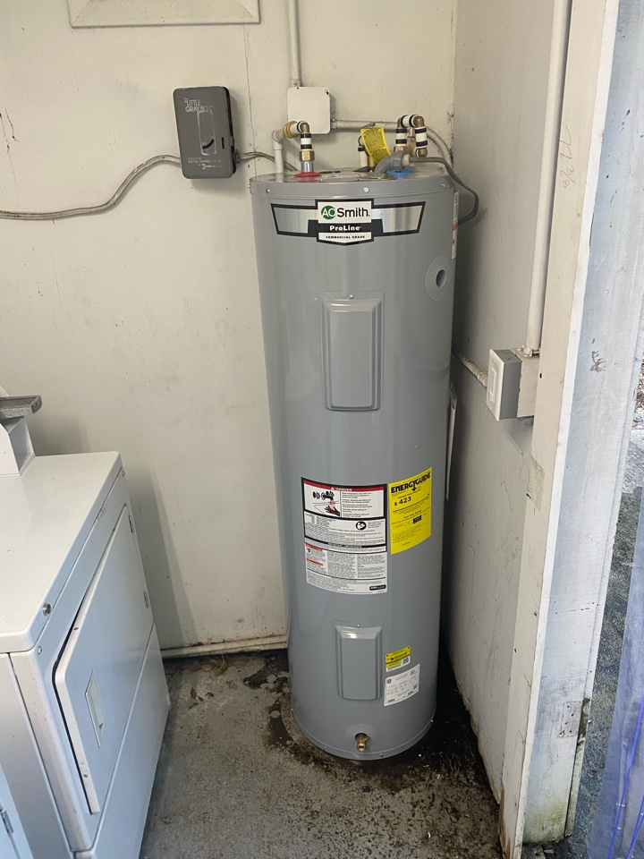 Replaced old leaking water heater 40 gal with a new one tested no leaks.