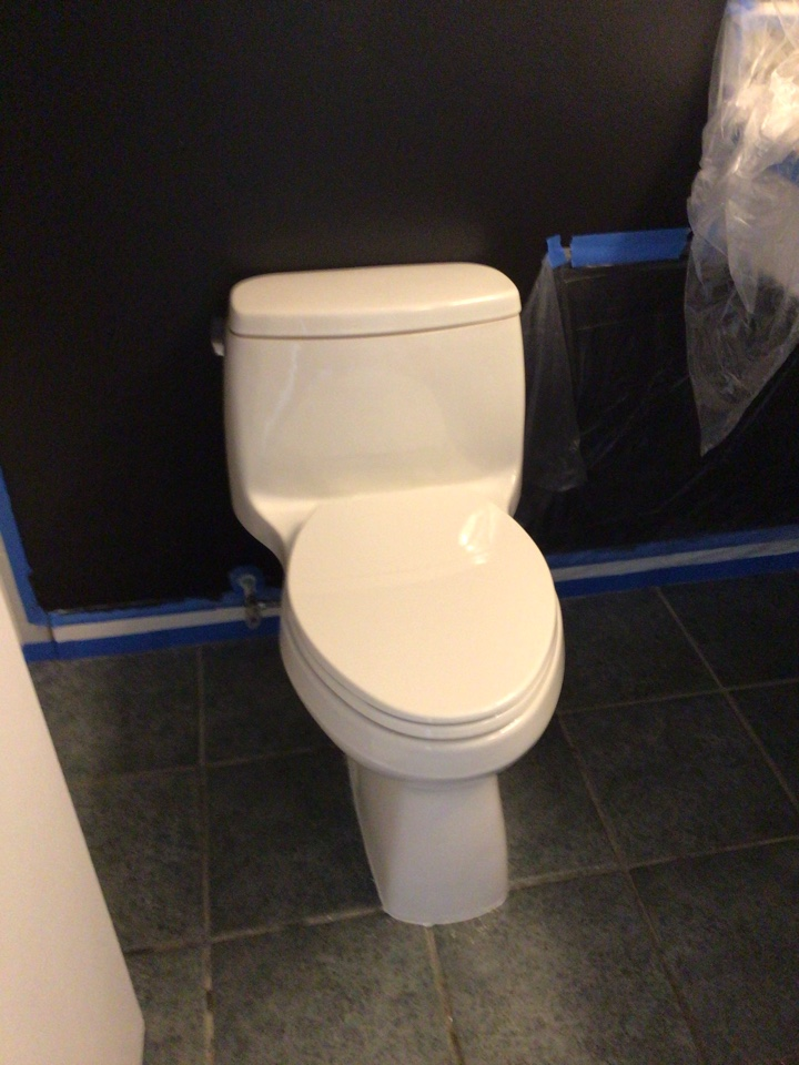 Apopka, FL - I install new toilet one piece.