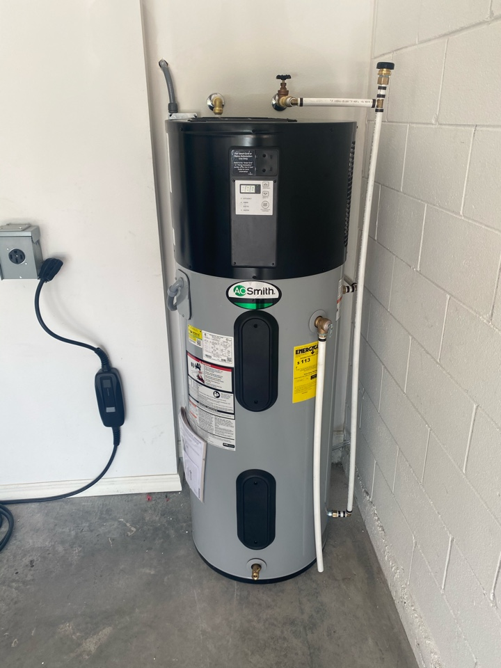 Orlando, FL - Hybrid water heater install with junction box