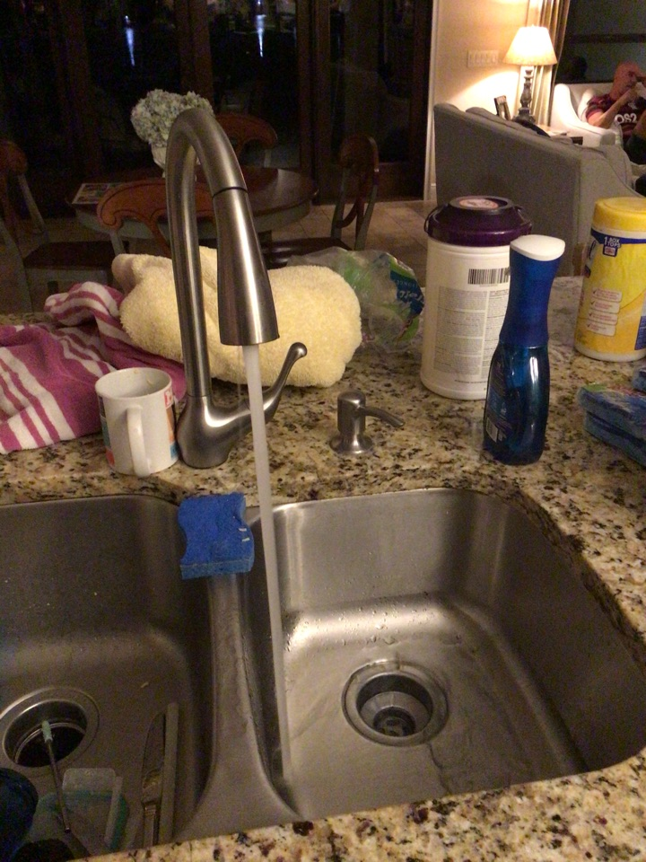 Orlando, FL - Client have kitchen sink clogged, I cleaner the p-trap.