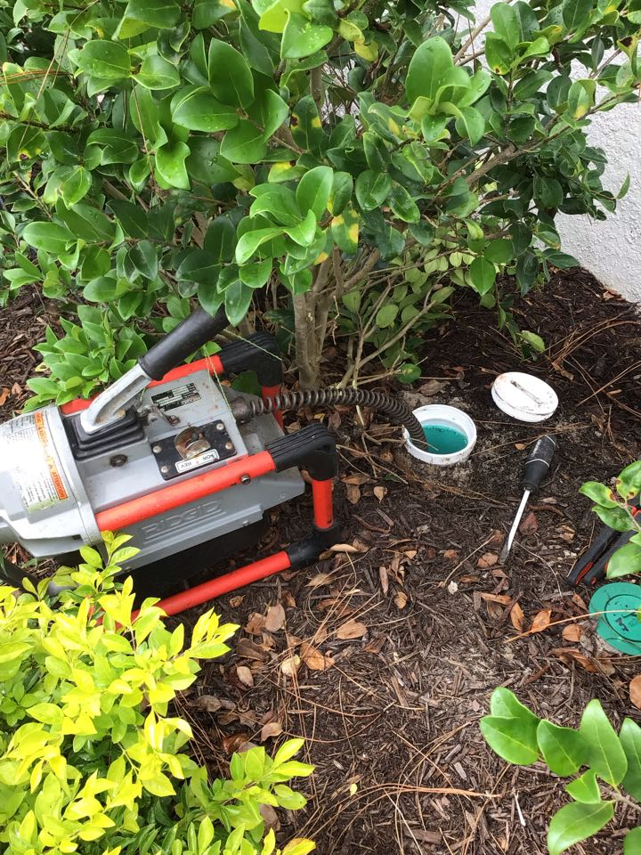 DeLand, FL - Client have main drain line clogged, i cleaner the drain line with my drain cleaner machine from the cleanout.