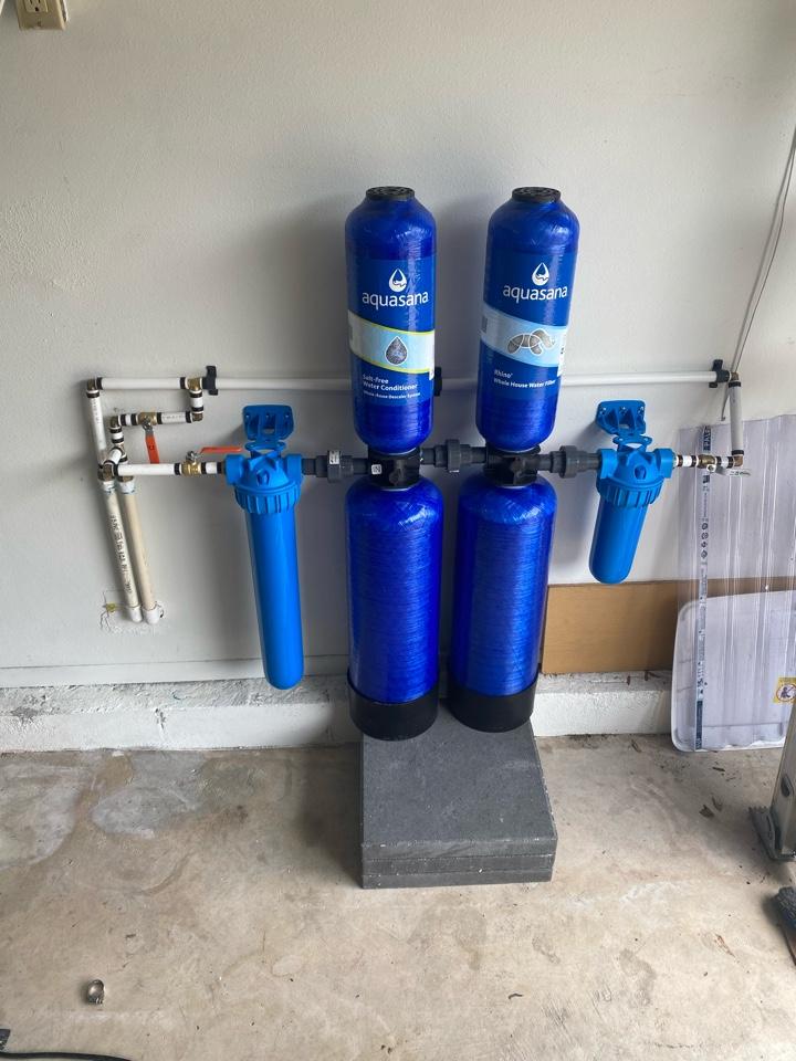 Altamonte Springs, FL - Aquasana install in garage