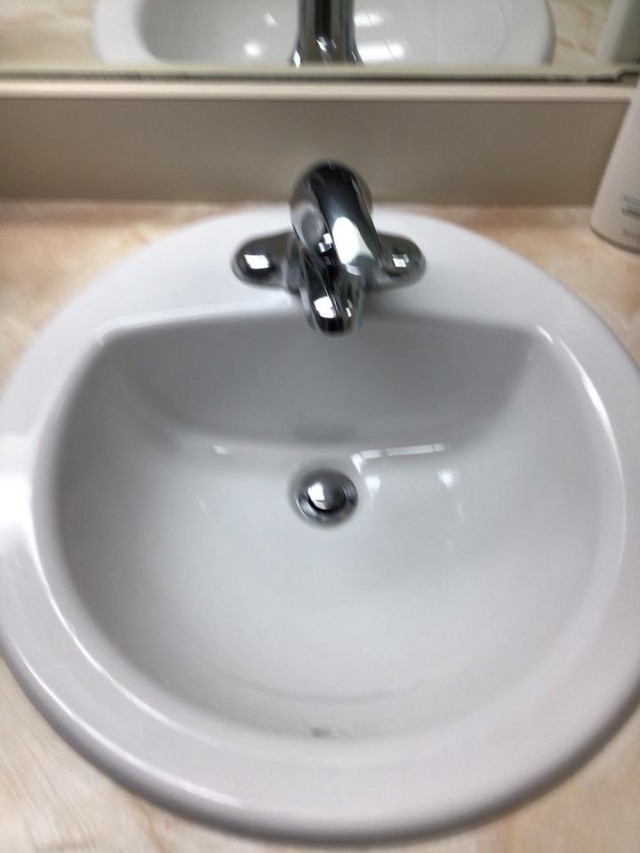 Longwood, FL - Client provided new bathroom sink, i install new bathroom sink.