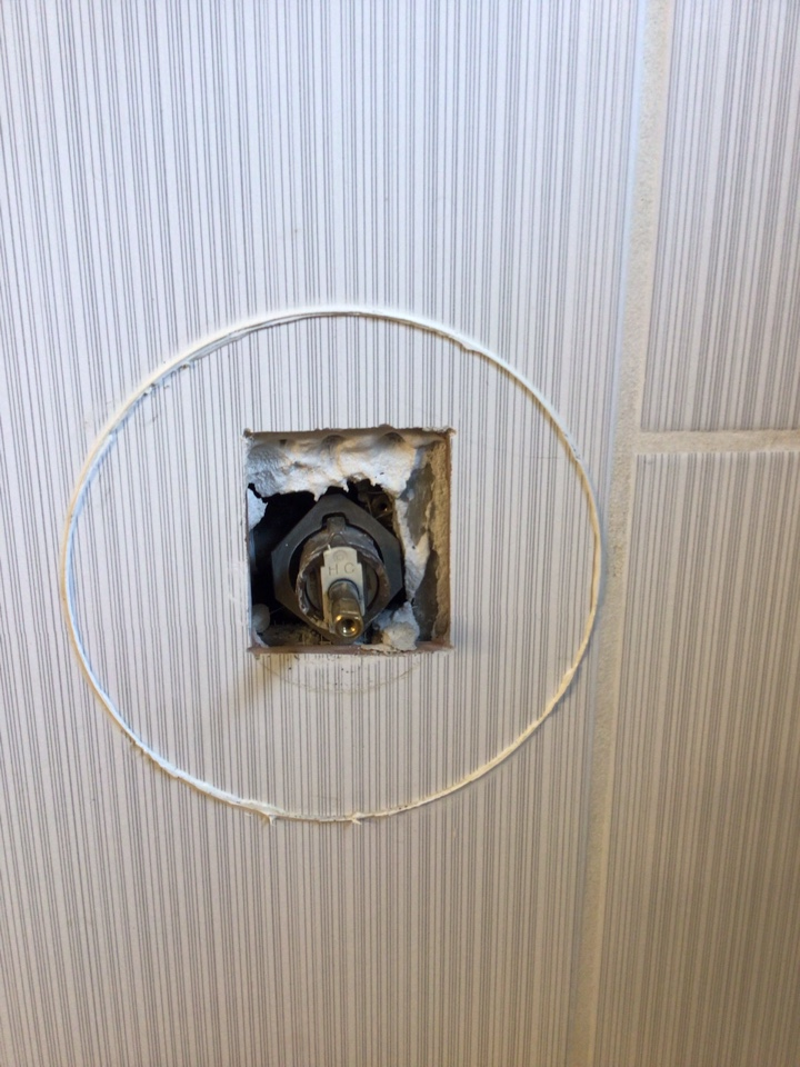 Sanford, FL - Client have Shower faucet leaking water, i install new Moen cartridge and water leak fixed.