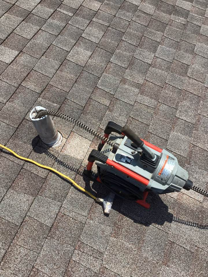 Deltona, FL - Client have main drain line clogged, i cleaner the drain line from the roof vent.