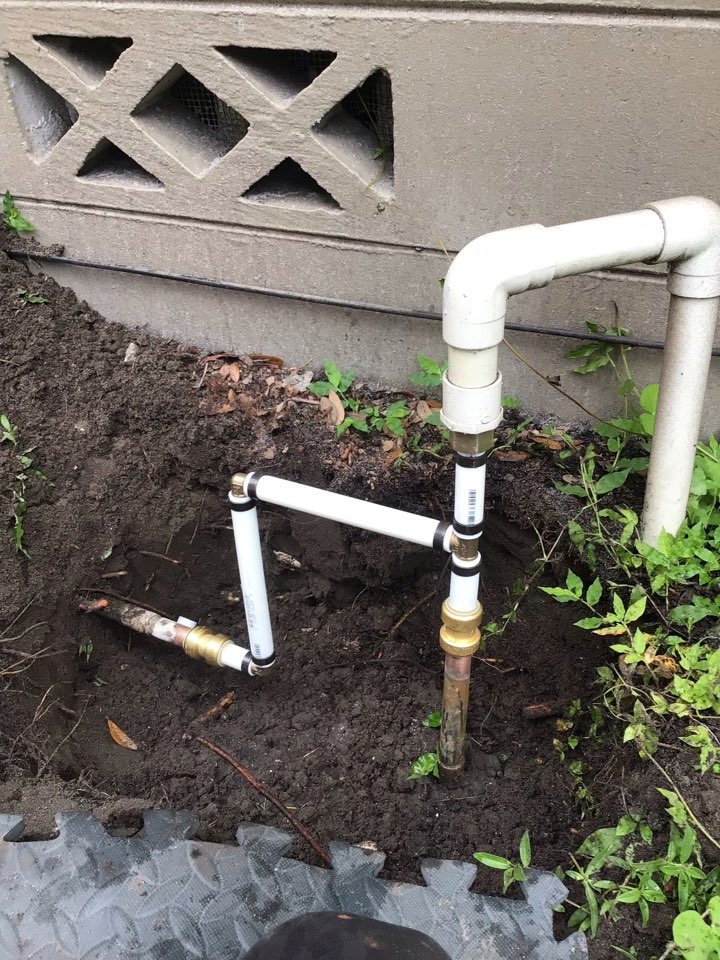 Orlando, FL - Client have water leak in the yard, i fixed the water line and everything is working back properly.