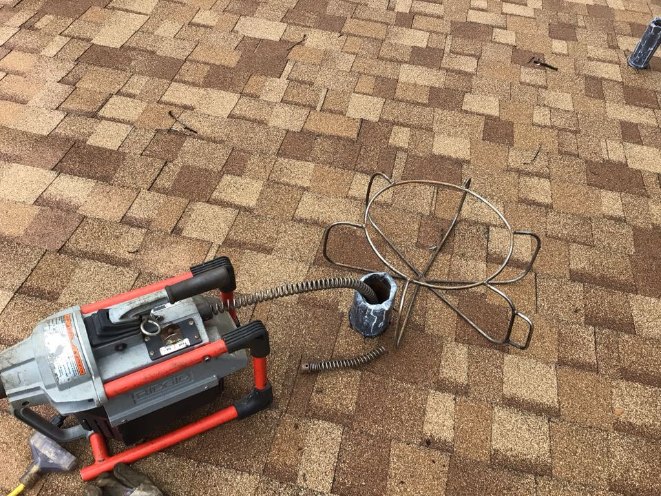 Altamonte Springs, FL - Client have main drain line clogged, i cleaner the drain line from the roof vent.