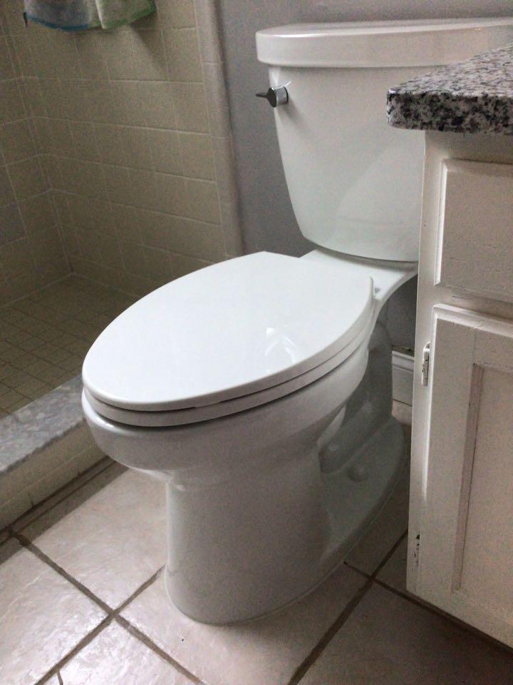 Oviedo, FL - Client provided new toilet, i install the toilet.