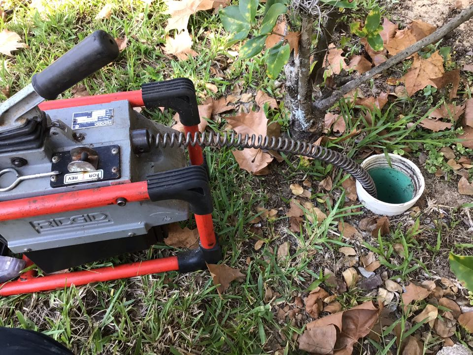 Longwood, FL - Client have main drain line clogged, i cleaner the drain line from the cleanout.