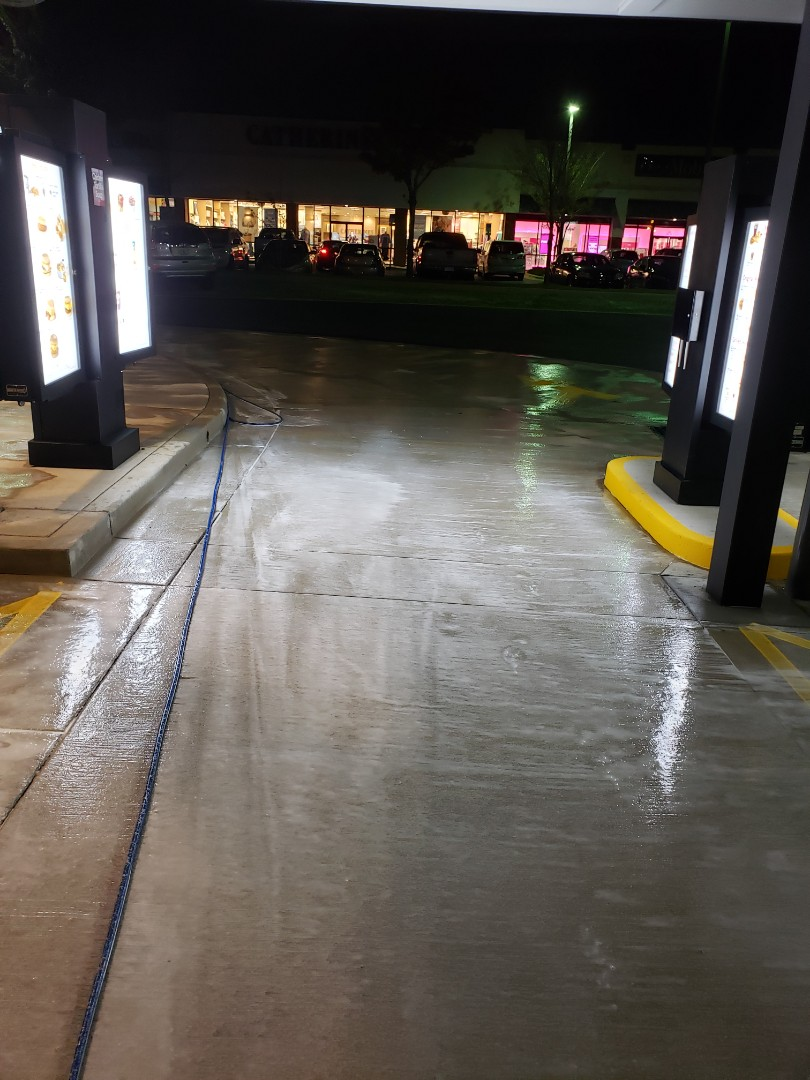 Drive-thru cleaning