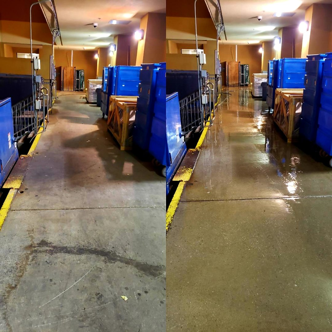 Loading dock cleaning in Pensacola.