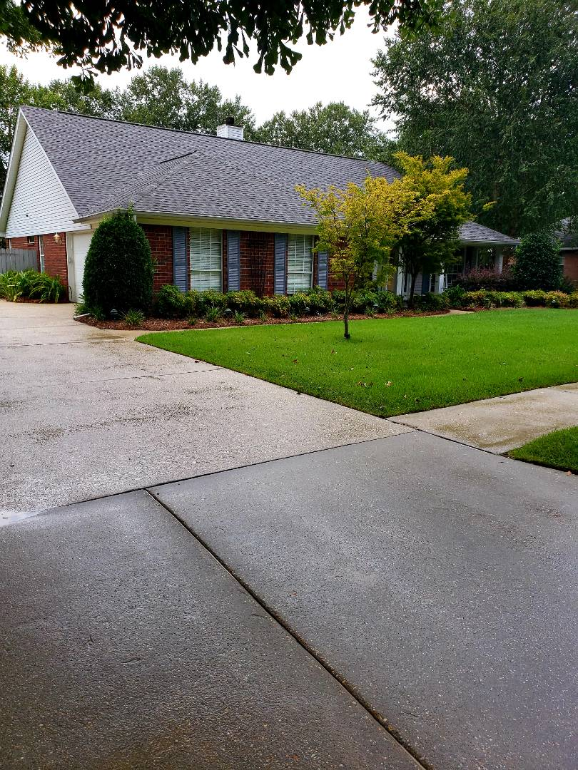 Driveway & sidewalk cleaning in Cantonment.