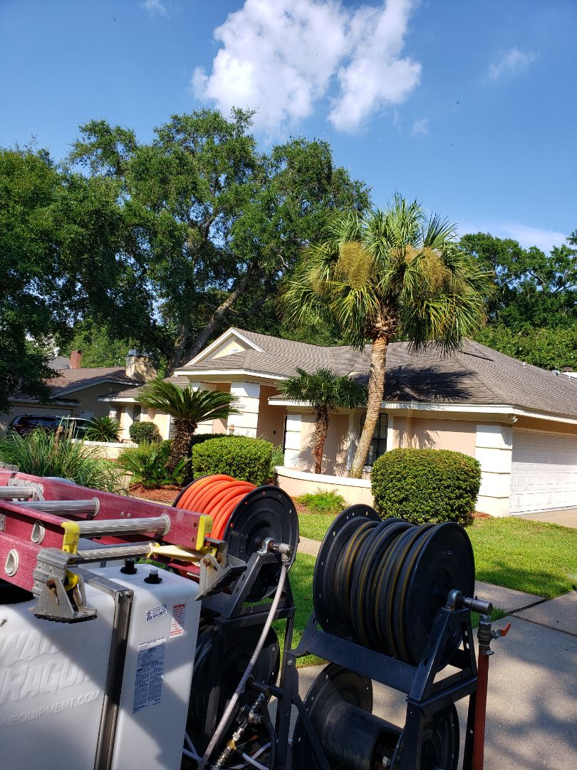 Pensacola, FL - House washing and concrete cleaning in Pensacola.
