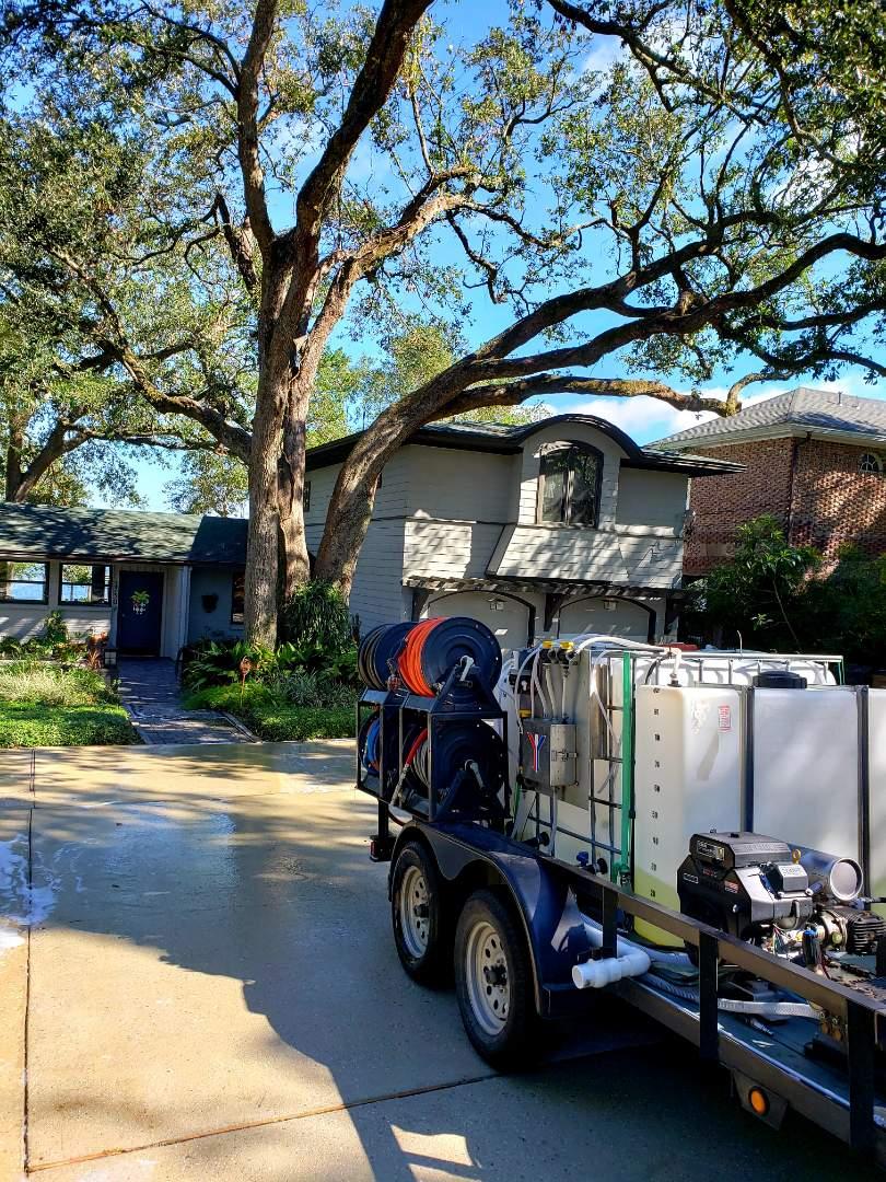Pensacola, FL - Pressure washing in Pensacola.