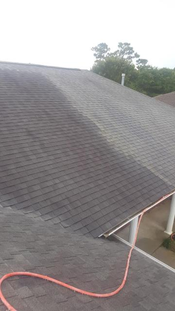 Roof cleaning in Pensacola Florida.