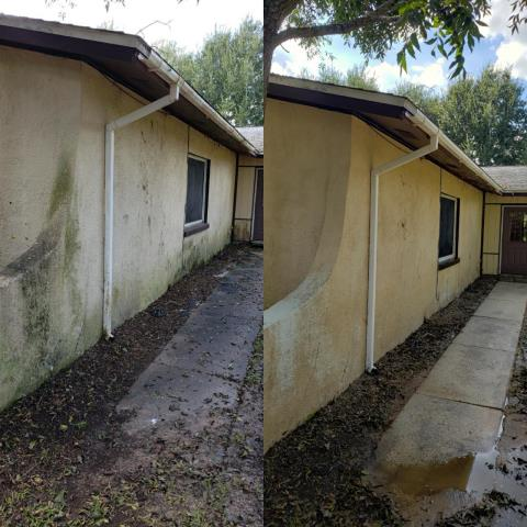 House washing and concrete cleaning in Cantonment.