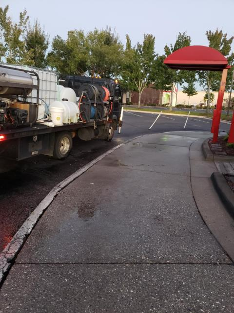 Drive-through cleaning