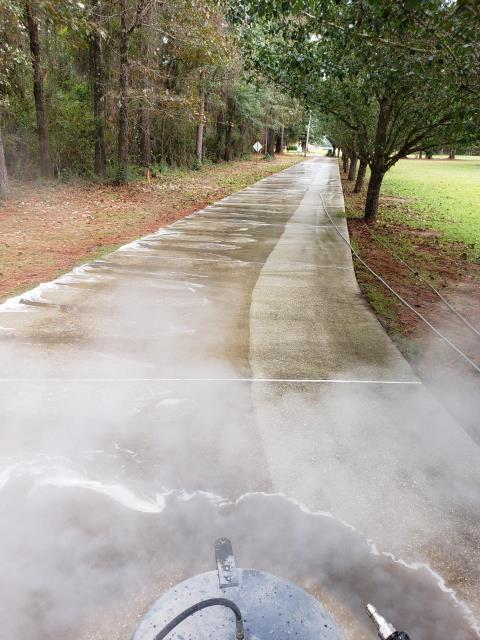 Concrete cleaning.